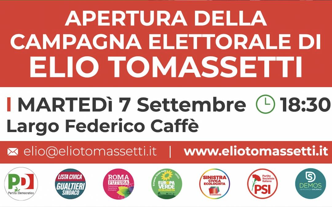 7 Settembre – Apertura della Campagna Elettorale a Largo Federico Caffè