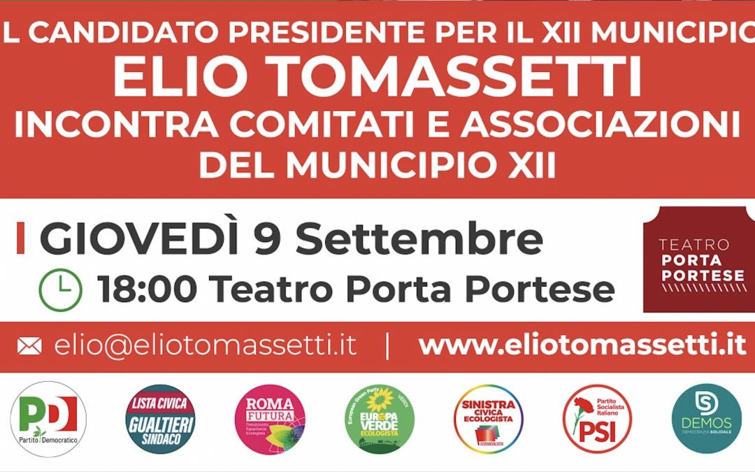 9 Settembre – Incontro con i comitati e associazioni di Porta Portese